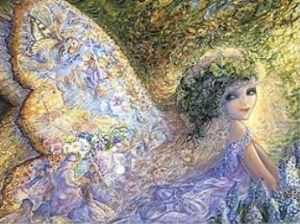 "Encouragement Card ""Fairytale Wings"" Encouragement Greetings Card by Josephine Wall"